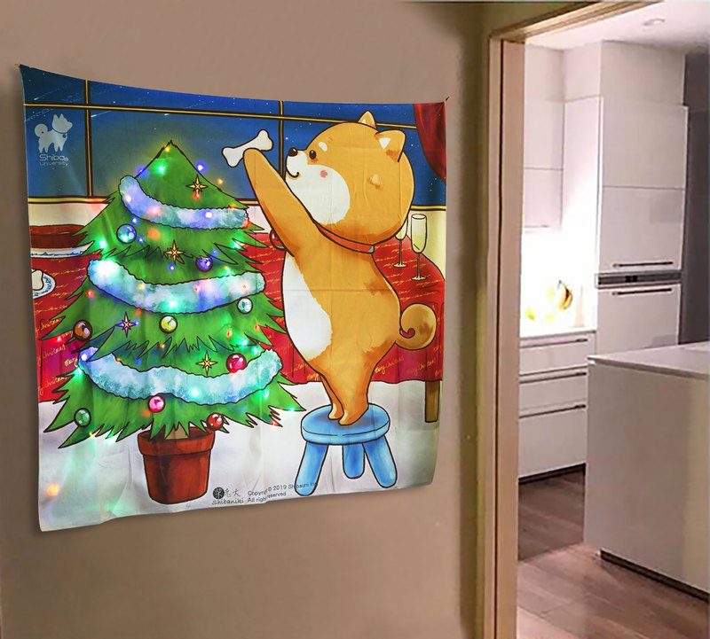 Shiba Inu University-Chai Lao Christmas Tree Hanging Paintings Christmas Gifts Home Decoration Mural