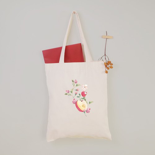 [Flower Fairy] Apple Flower Girl Canvas Tote