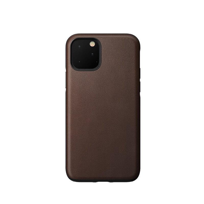 American NOMAD classic leather drop protection shell - iPhone 11 Pro Max brown (856500018102