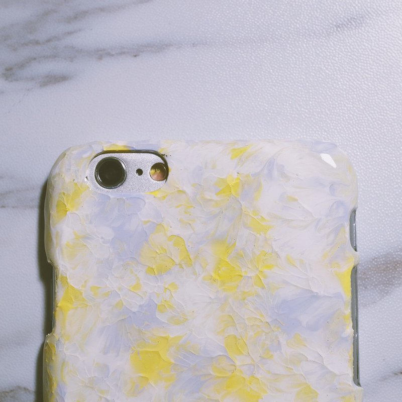 Ice Cream Series ll BabyYellow Lavender ll Hand-painted oil painting phone case