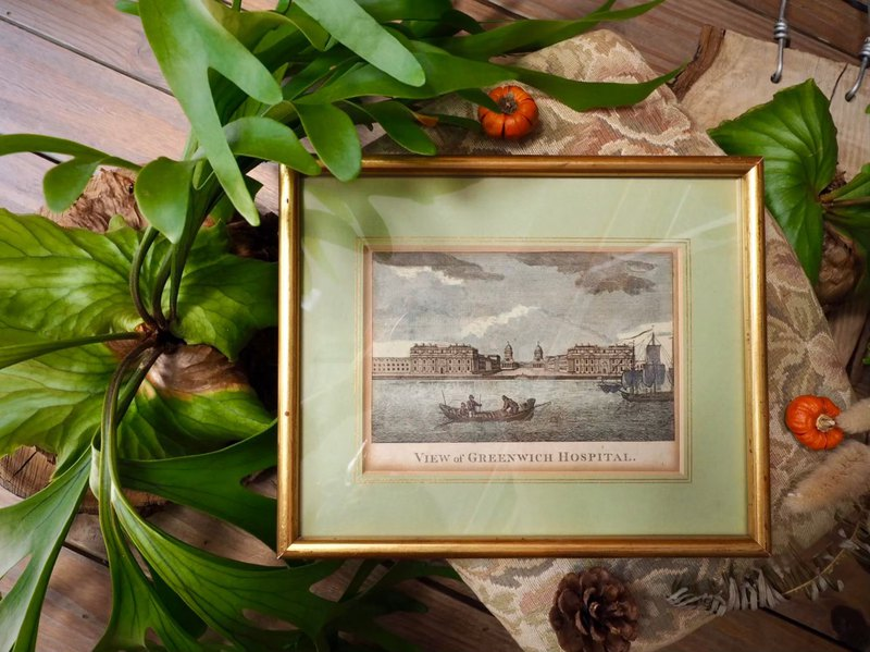 Centennial antique drawing of Greenwich scenery