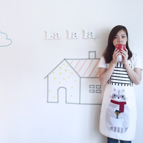 [La la la] Good Day_ Raccoon gifts aprons / limited hand / kitchen baking a good thing