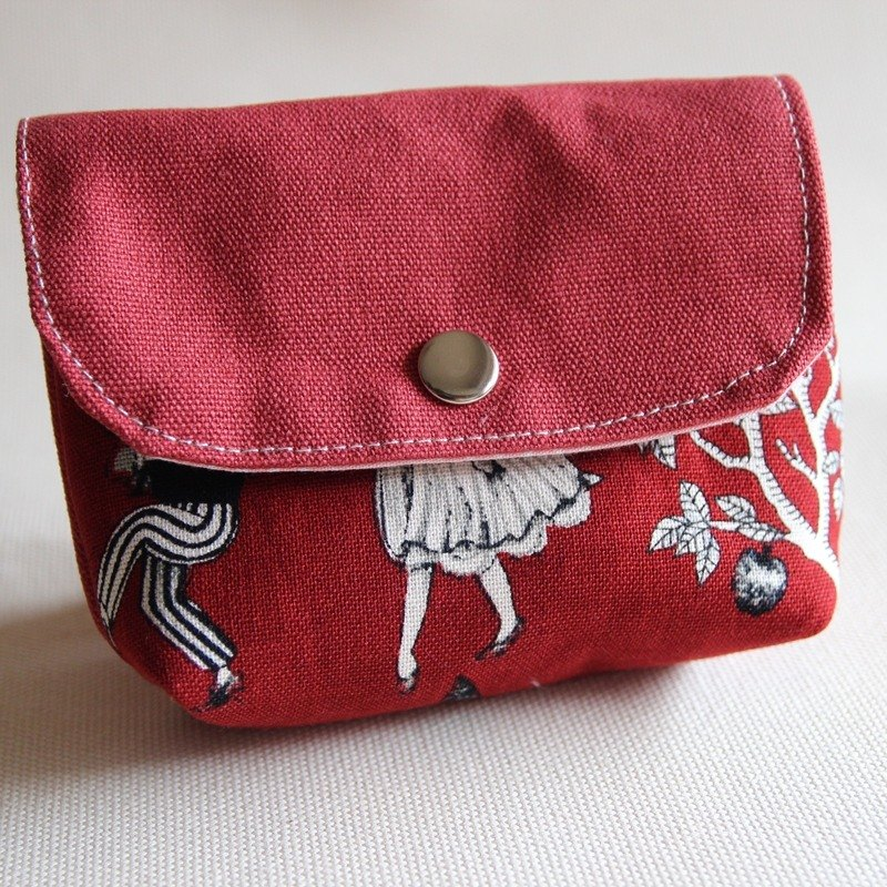 Cotton Fabric: Canvas Coin Purses,  Scarlet canvas, red canvas