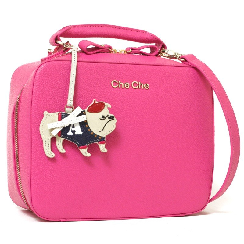 Bulldog Key-Ring Leather Handbag