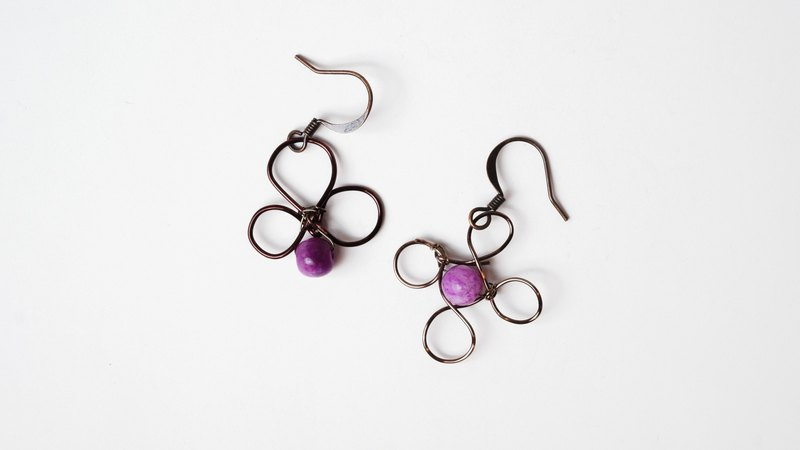 [Spring] Handmade X natural stone earrings