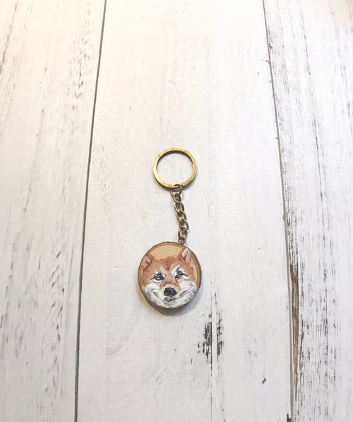 Log key ring 3-4 cm