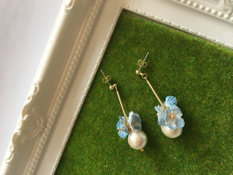 *My Fancy Handmade*Hand Hoop Hydrangea Earrings