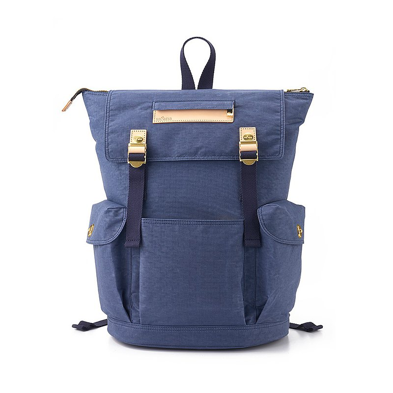 Satana - Soldier Roaming Zip Backpack - Night Shadow Blue