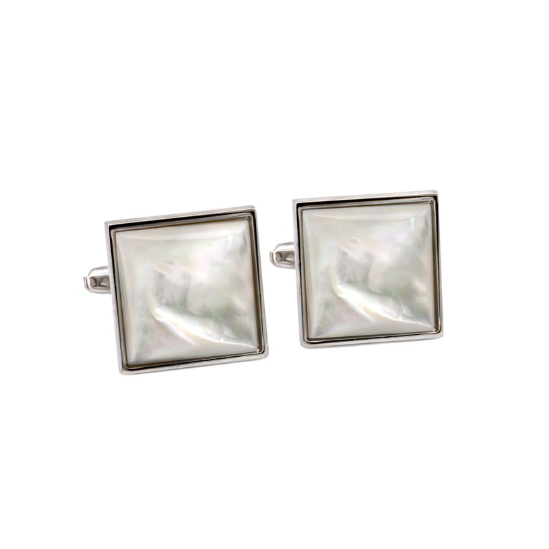 Square White Mother of Pearl Cufflinks