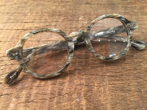 Absolute Vintage - Stanley Street (Stanley Street) circular frame plate glasses Young - Marble Marble