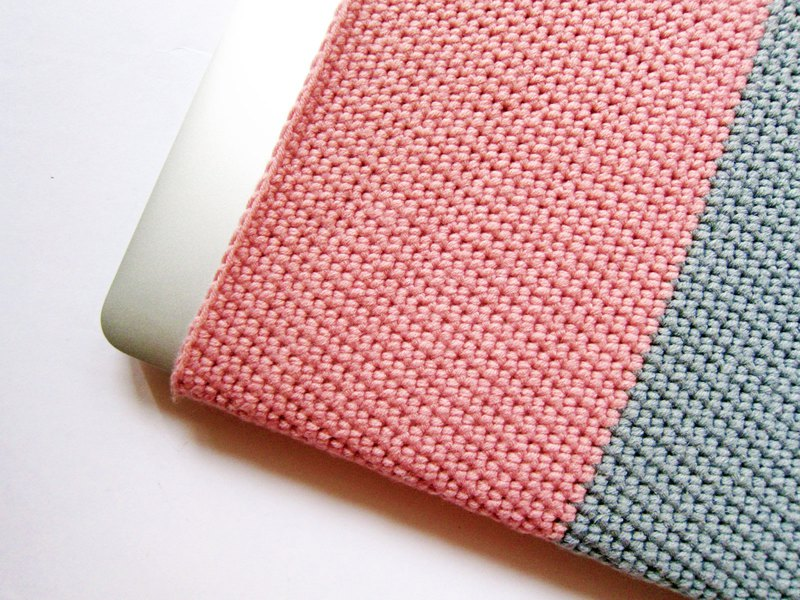 Notebook macbook protective cover crochet protective cover 100% cotton wool hand crochet