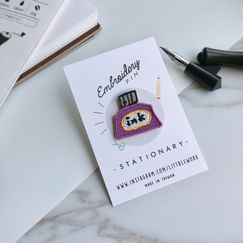 Embroideried patch Embroidery pin | Stationery - ink | Littdlework