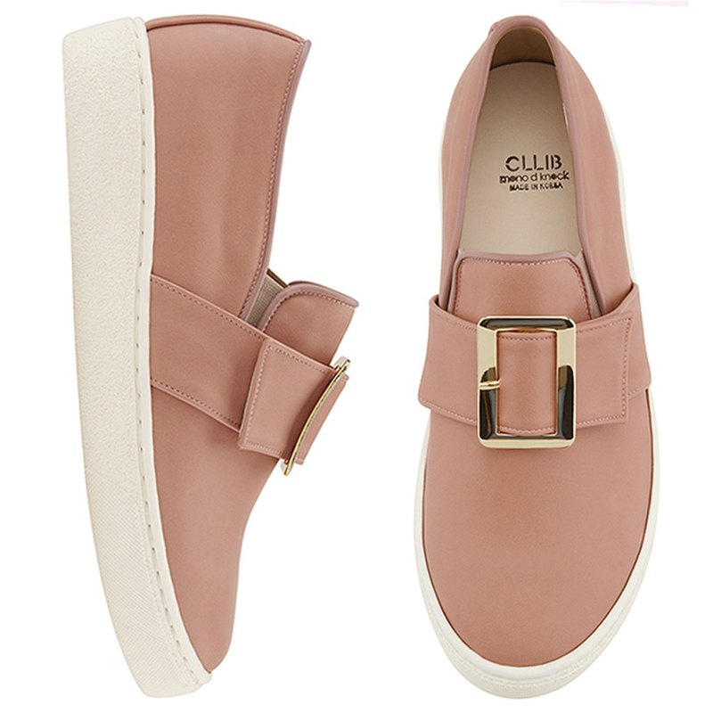 CLLIB Zenn_Thick buckle Slip On MS4380 PINK