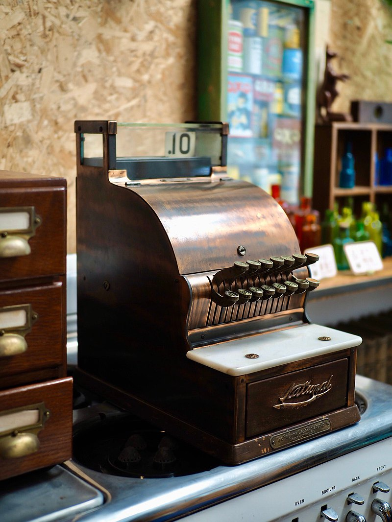 American 1927 Antique Metal Cash Register