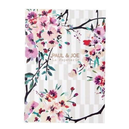 Mark's x PAUL & JOE A6 Notebook【Stripe Bouquet (PAJ-NB2-E)】