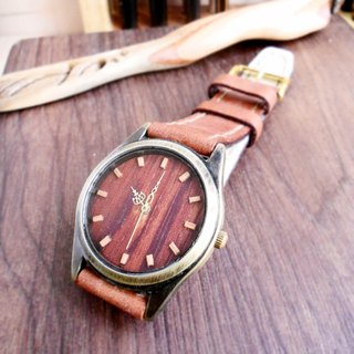 Hand-made sour wood surface exquisite beech wood standard hand-stitched leather strap limited only one