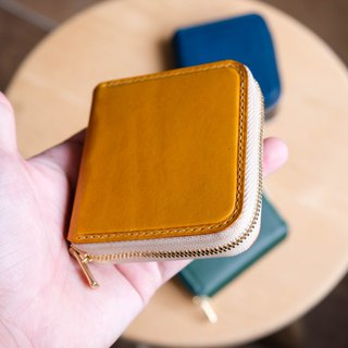 Zipper Purse 拉鍊零錢包 Italian leather buttero