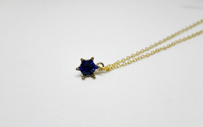 Alloy X other material necklace <Little Blue Star> => Limited X1