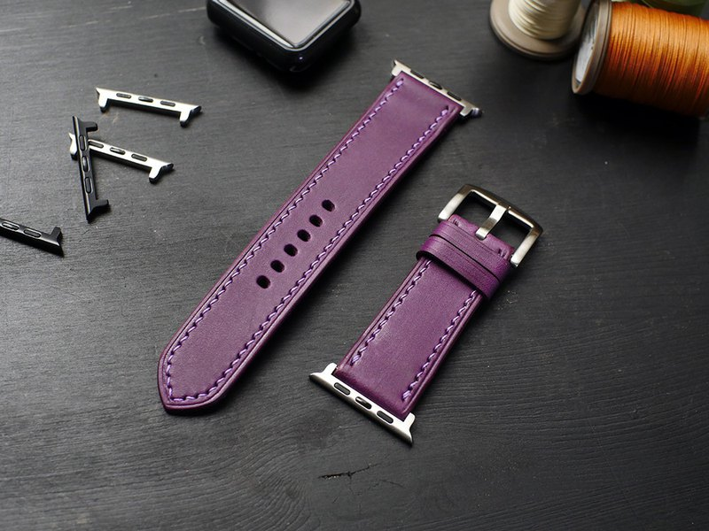 [Limited offer extended] applewatch leather hand strap strap - purple