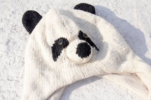 Christmas gift hand-woven pure wool scarf / knitted scarf / animal shapes Scarf / hand-woven scarves bristles - panda panda animal caps gloves scarves 1 design