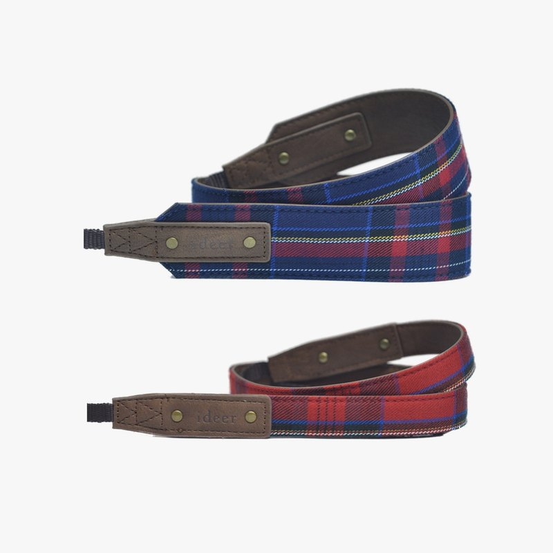 [Shipping] Scottie Stewart Bleu combination of British style blue plaid strap (crude) + Scottie Stewart Rouge Mini British style sub strap (young)