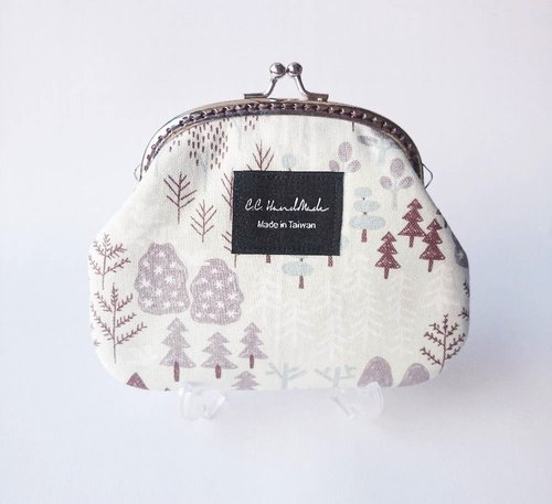 Nordic outlet gold package / coin purse - Nordic forest
