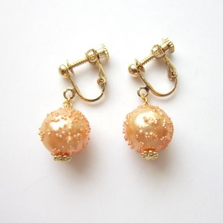 Vintage French Beads Earrings (Light Pink)