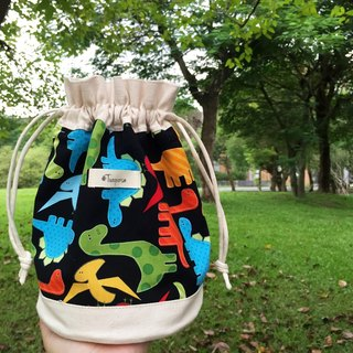 Little dinosaurs / American Cotton print / Shoulder bag  crossbodies  bucket bag
