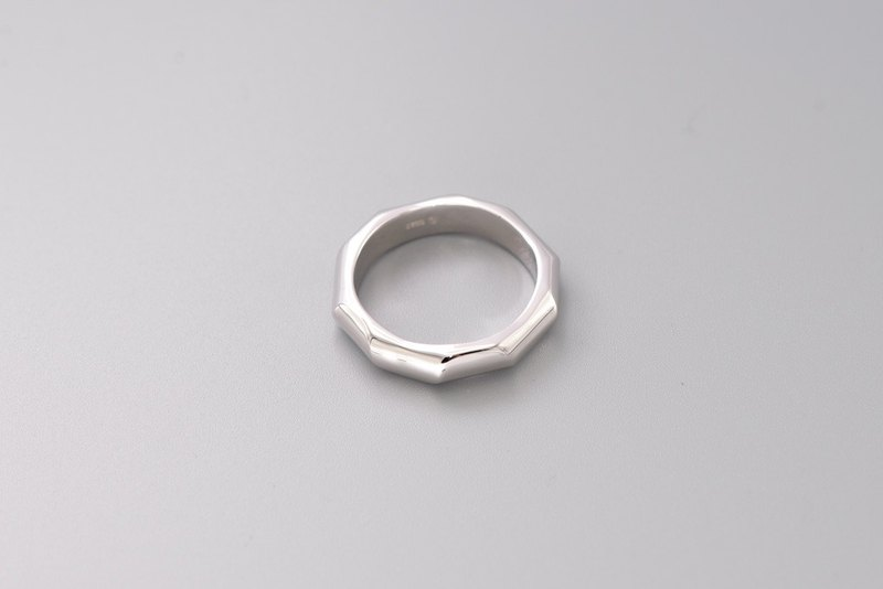 Building line wave silver ring simple industrial wind couple ring