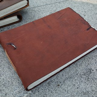 [Collector's Edition] thread leather manual book. Watercolor book. Drawing book. N063