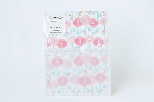 Letter writing set : Flower and girl