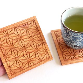 Wood Coaster Japanese Pattern pattern [hemp]
