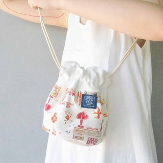Side back bucket bag _ boudoir