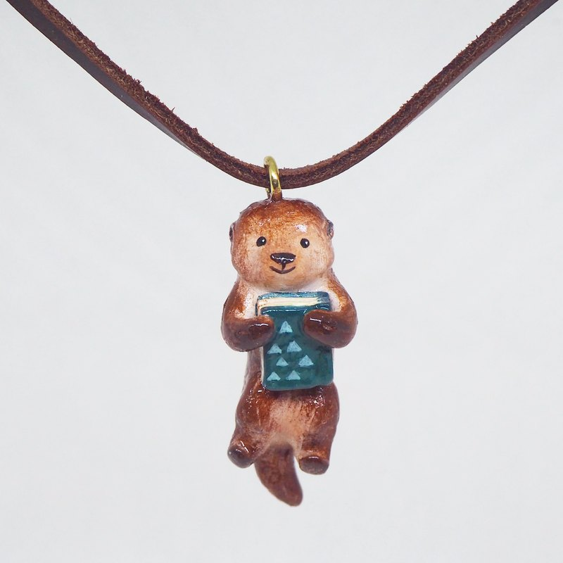 Hipster Otter handmade necklace