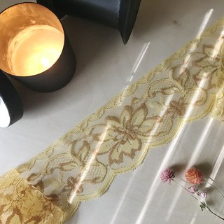 Early goose yellow lace ribbon / hand made material