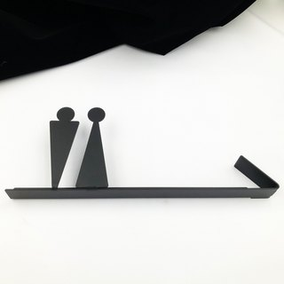 Extreme texture toilet direction signboard makeup room listing bathroom tag toilet signboard 304 stainless steel toilet arrow toilet signboard