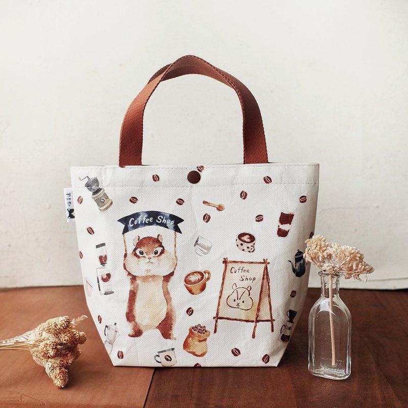Sunny Bag x 喵星達-松鼠咖啡店托特包