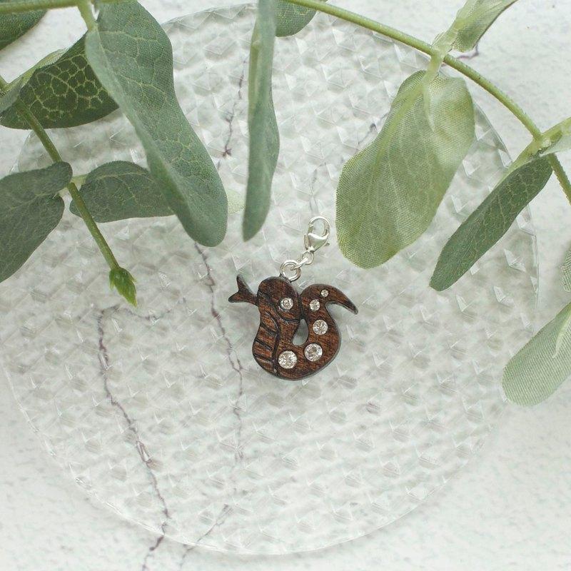 手工木製吊飾  十二生肖 蛇 吊飾 禮物訂製