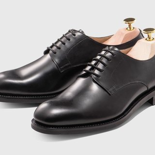 Melanin five hole Derby shoes Goodyear suture handmade
