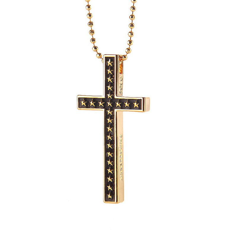 The Cross of Burleigh Star Necklace The Star of Bethlehem Cross Necklace
