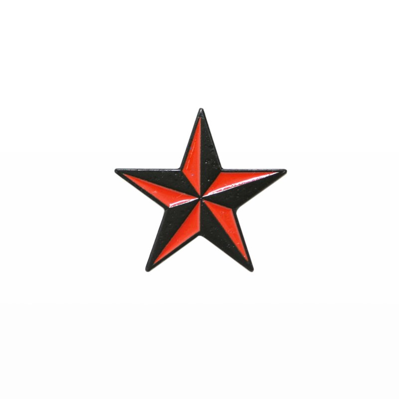 Red & Black Nautical Star