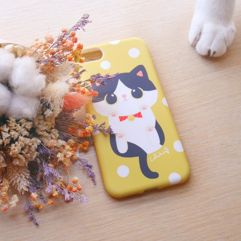 Kitten meat ball phone case / ChiaBB TPU matte soft shell (various colors)
