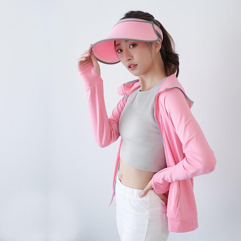 UPF50+光肌美膚遮陽防曬涼感外套-粉紅*工研院研發面料*