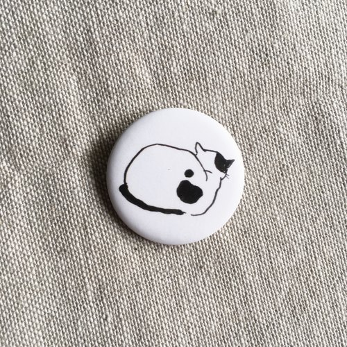Angry Cat Girlfriend | 3.2cm Matte Badge
