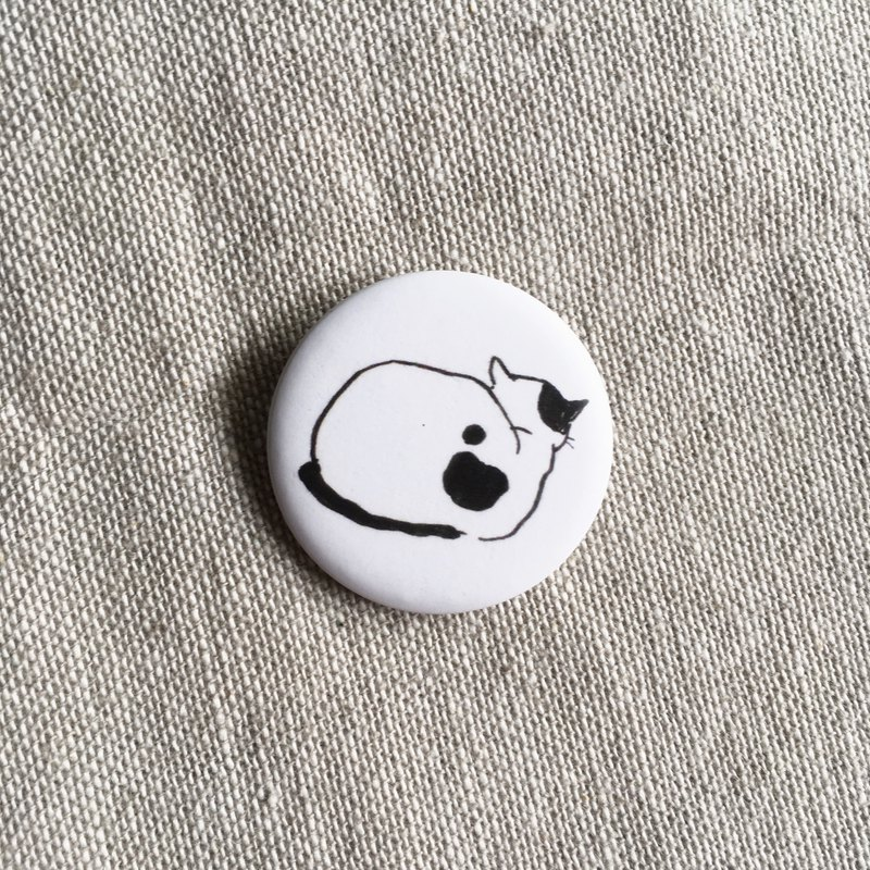 Angry Cat Girlfriend | 3.2cm Mist Face Small Badge