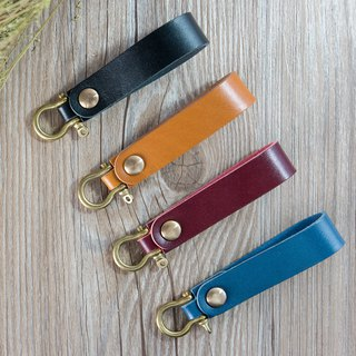 MISTER top hand-stitched leather Italian vegetable tanned leather [keychain]