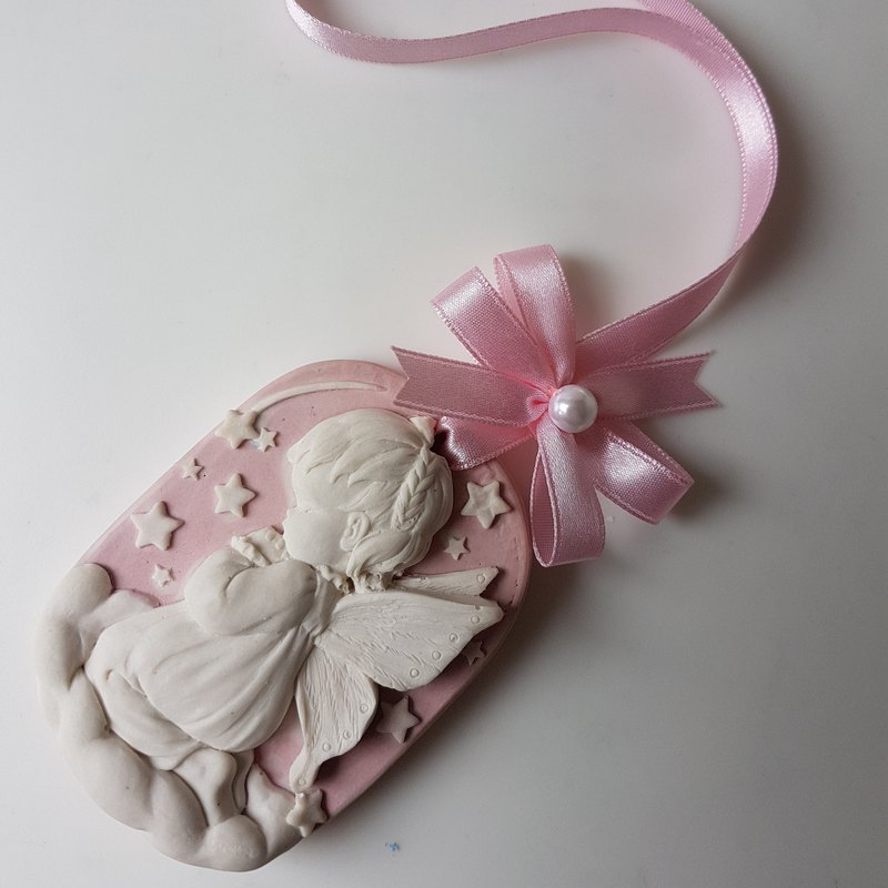 Aroma Stone wall plaque - Praying Angel Girl V.1