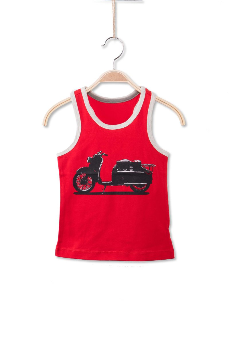 Motorcycle vest - red
