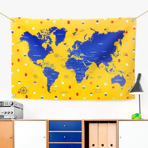 Customized world map cloth summer bubbles little