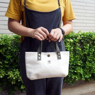 Walking bag leather handle
